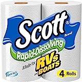 Scott Rapid-Dissolving Toilet Paper, Bath Tissue for RV & Boats , 4ct packs X 12= 48 rolls