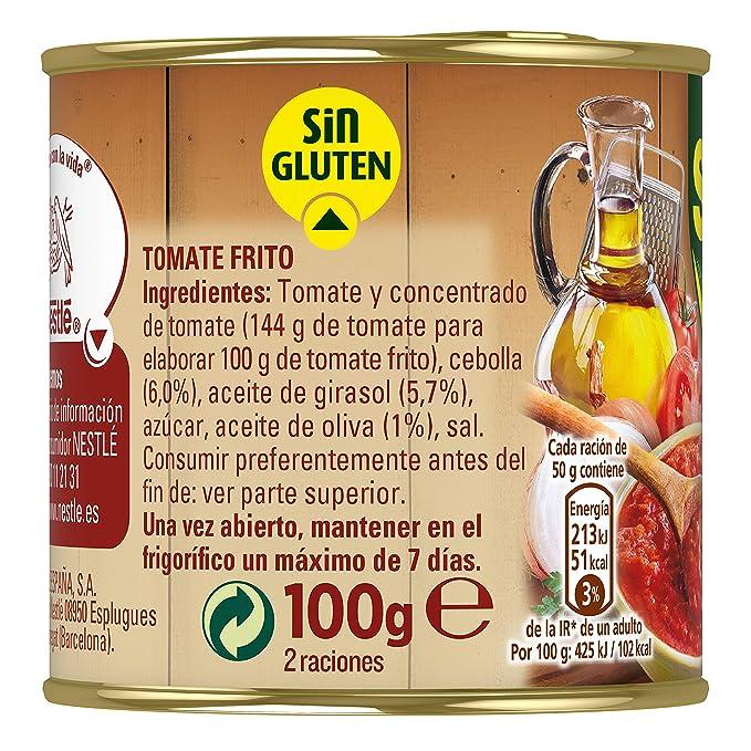 SOLIS Tomate Frito Estilo Casero Lata - Tomate sin gluten - Pack de 3x100g