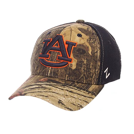 f270345e668ed0 Zephyr NCAA Auburn Tigers Adult Men Terrain Cap, Medium/Large, Mossy Oak  Camo