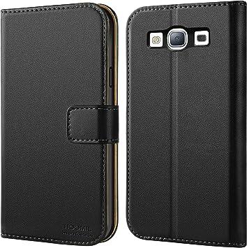 HOOMIL Funda para Samsung Galaxy S3, Funda de Cuero PU Premium Carcasa para Samsung Galaxy S3 (Negro): Amazon.es: Electrónica