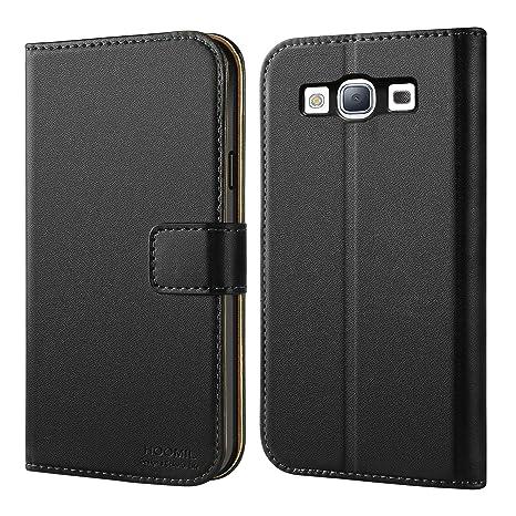 HOOMIL Funda para Samsung Galaxy S3, Funda de Cuero PU Premium Carcasa para Samsung Galaxy S3 (Negro)