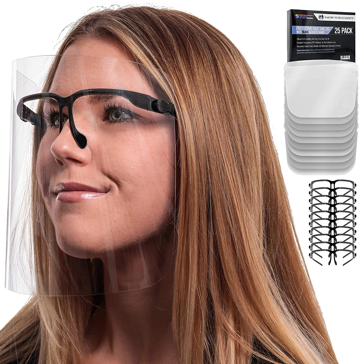 TCP Global 25PCS Safety Face Shields $24.96 Coupon