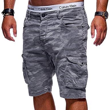 5e8294f2f5c95a MT Styles Herren Cargo-Shorts Camouflage Kurze Hose Chino Bermuda JN-3292  [Grau