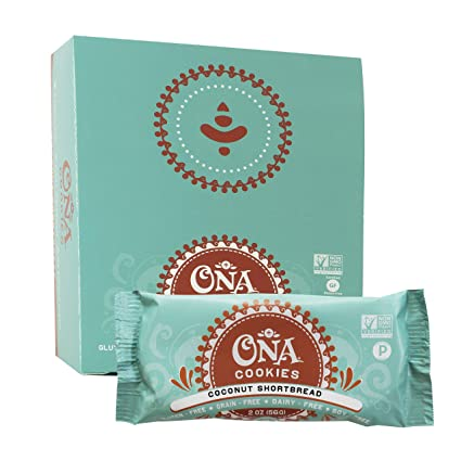 ONA - Galletas sin gluten manteca de coco - 12Pack: Amazon ...