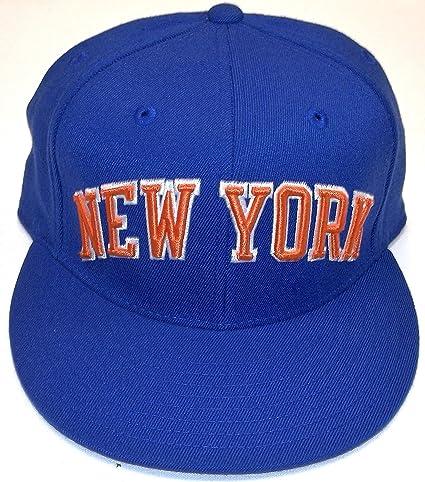 Amazon.com   New Adidas New York Knicks Blue Orange Retro Logo ... 284ebb478a6f