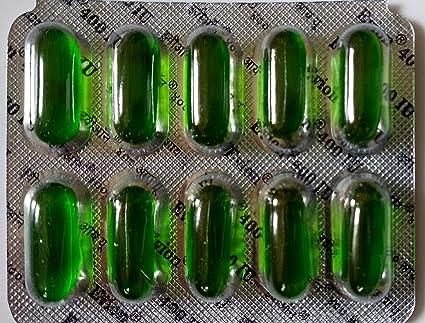 200 cápsulas Evion de vitamina E para cara brillante, pelo fuerte, acné, uñas, piel brillante 400 mg: Amazon.es: Belleza