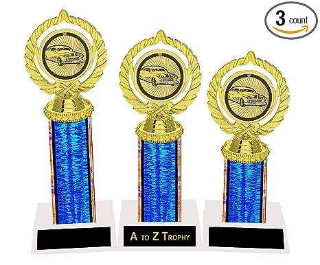 Amazoncom Custom Car Trophies Awards St Nd Rd Place Hotrod - Cheap car show trophies