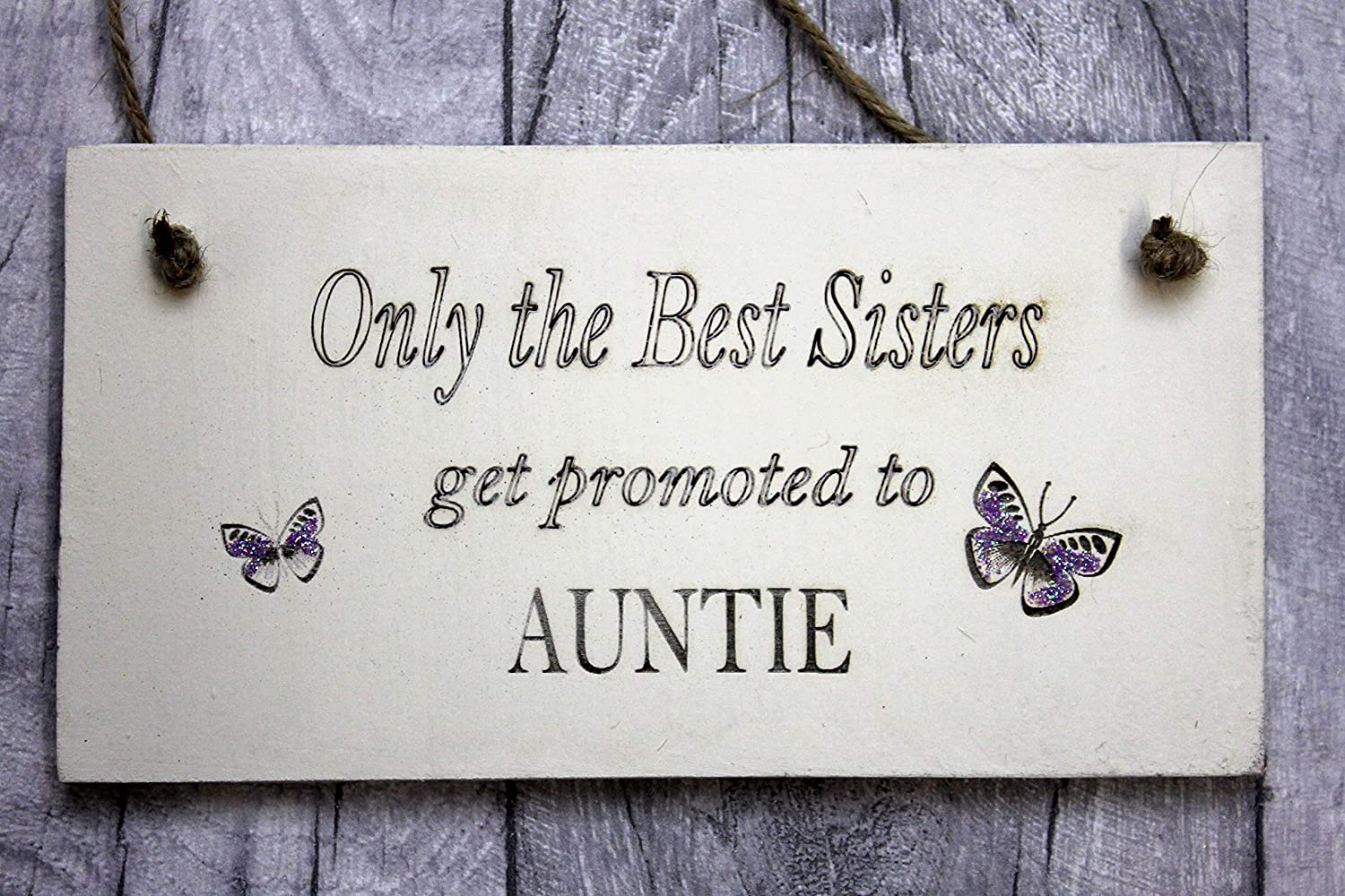 Personalised sister handcrafted plaque for birthdays christmas