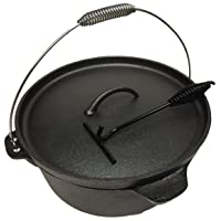 Wildfox Feuertopf Dutch Oven schwarz klein Firepot Garten Camping Picknick ✔ rund