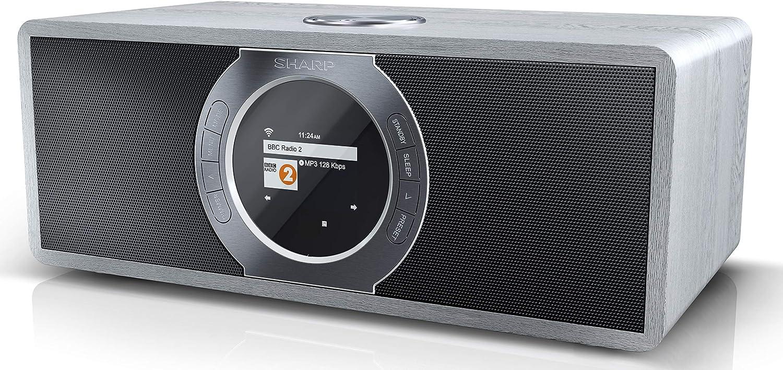 Sharp Dr I470 Gr Stereo Internetradio Dab Dab Digitalradio Wifi Streaming Bluetooth Dlna Farbdisplay Fm Radio Alarm Schlaf Und Snooze Funktion 30 Watt Grau Heimkino Tv Video
