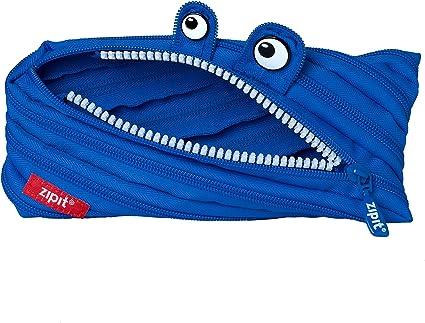 ZIPIT Monster - Estuche para lápices, color azul Medium: Amazon.es: Oficina y papelería