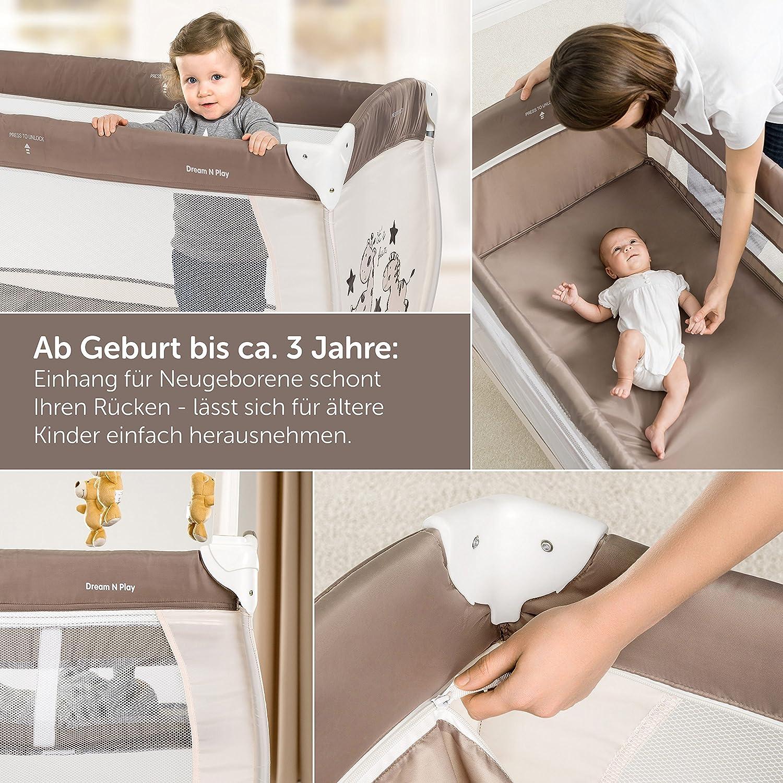 492e9cf14 HAUCK - Cuna de viaje para bebé BabyCenter Zoo - Incluye elevador para  recién nacidos
