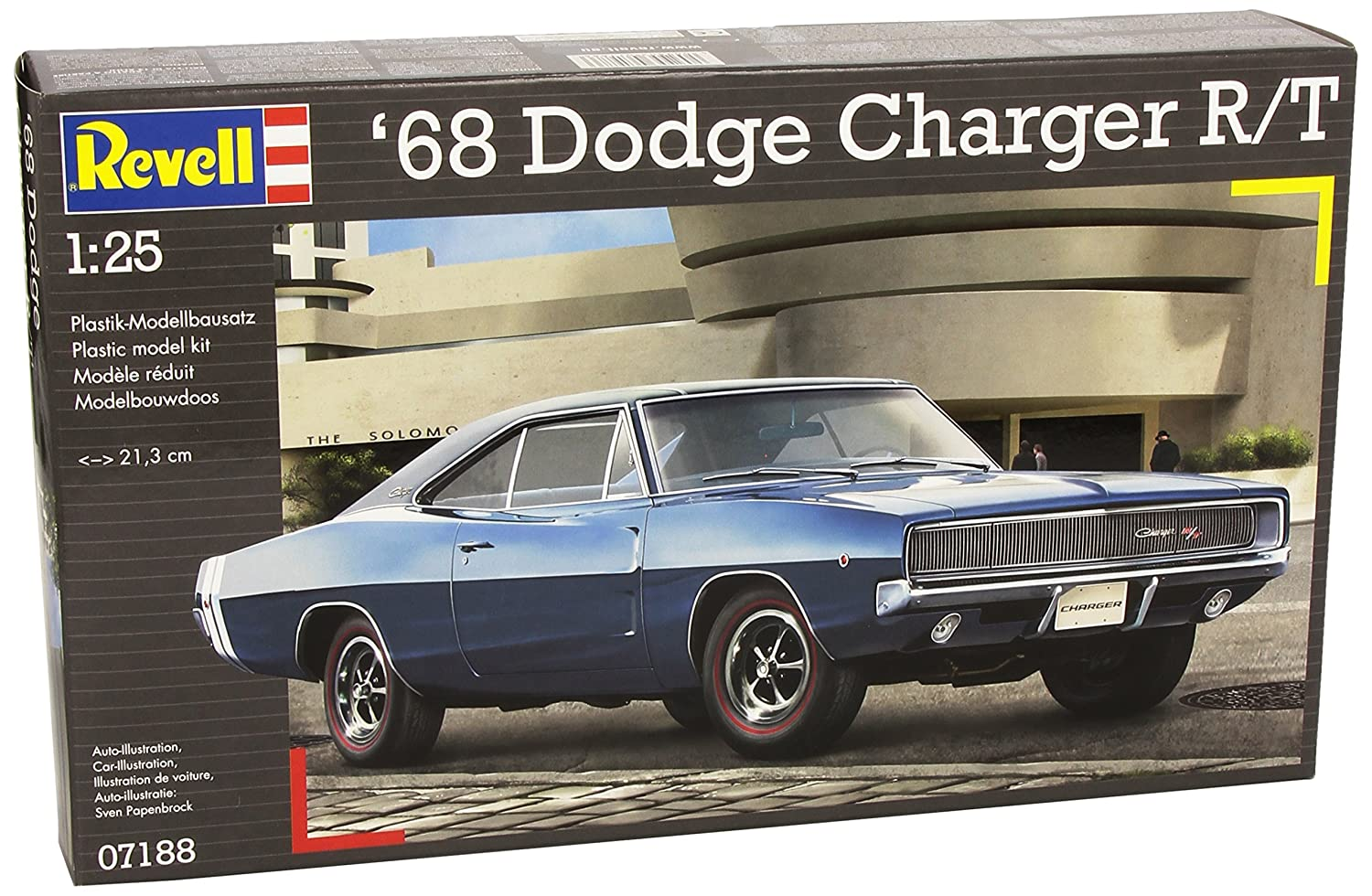 Revell 07188 1968 dodge charger r t model kit amazon co uk toys games