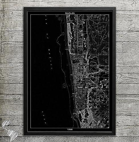 Naples Florida Map.Amazon Com Naples Fl Map Print Home Or Office Decor Handmade