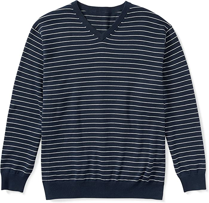 Amazon Essentials Suéter de rayas con cuello en V grande y alto. Chamarra sin botón para Hombre: Amazon.com.mx: Ropa, Zapatos y Accesorios