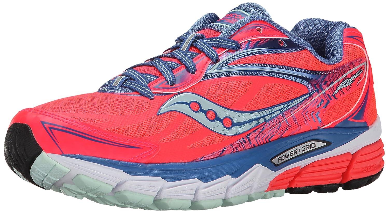 Saucony Women's Ride 8 Running Shoe B00PIXJFZA 8 B(M) US|Coral/Blue/Sea