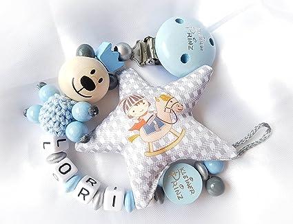 Cadena para chupete con nombres - Plástico Estrella deseos Diseño ...
