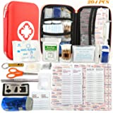 First Aid Kit - 204 Piece - Survival Medical Kit Waterproof Hard Case Lightweight Compact Portable for Travel Hiking Sports Car Home Workplace Camping