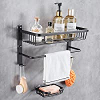 Hoomtaook douchemand douche plank zonder boren rechthoekig hoekrek mand voor badkamer en keuken hoekplank douche zonder…
