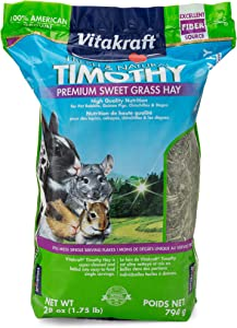 Vitakraft Timothy Hay - Premium Sweet Grass Hay - 100% American Grown, 28 Ounce Resealable Bag