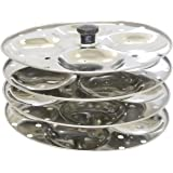 Tabakh Stainless Steel 4-Rack Idli Stand, Makes 16 Idlis