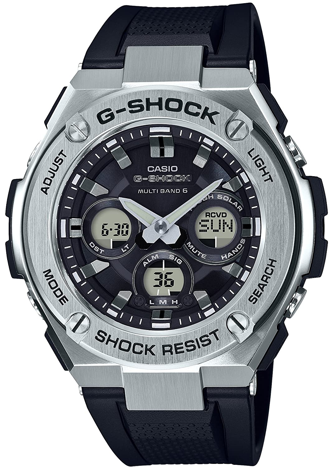 Amazon.com: CASIO G-SHOCK G-STEEL TOUGH SOLAR MULTI-BAND 6 ...