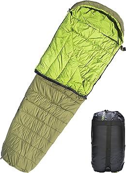 Adulte Simple Sac De Couchage Léger Voyage Camping Randonnée-Vert
