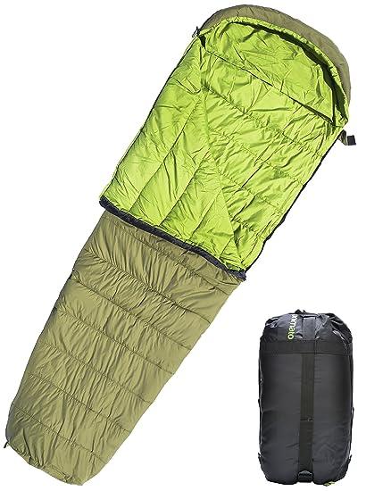 Saco de dormir tipo momia ligero impermeable para excursiones con mochila Acampada Montañismo Aire libre con ...
