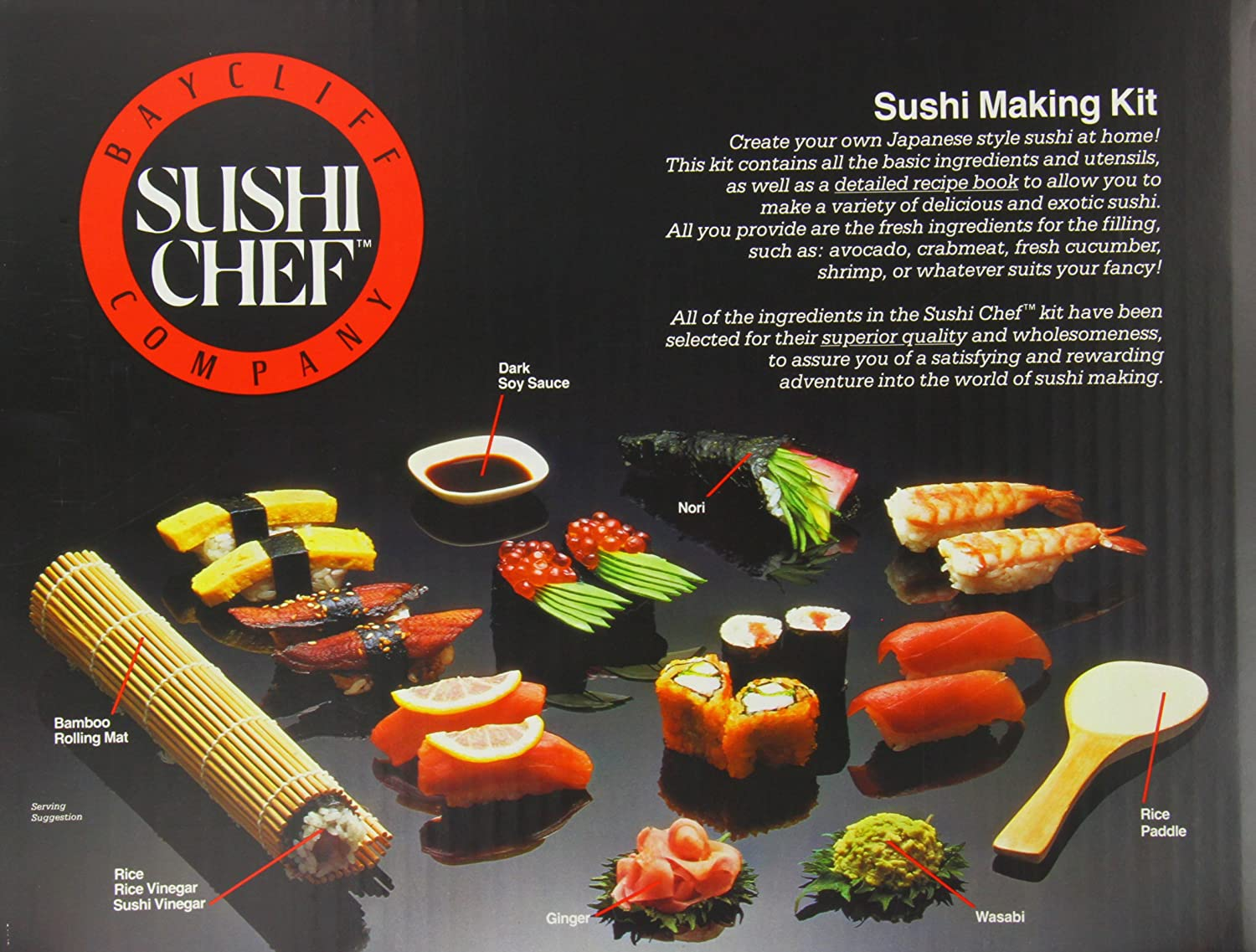 Sushi Dinner Party Ideas Part - 37: Amazon.com : Sushi Chef Sushi Making Kit : Gourmet Seafood Gifts : Grocery  U0026 Gourmet Food