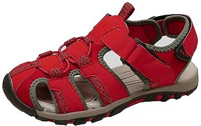 gibra Herren Trekkingsandalen Art. 5937 Sandalen mit Klettverschluss Rot Gr. 41-46
