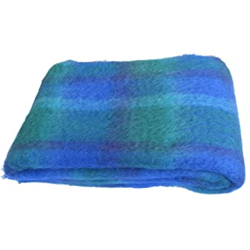 Gran cepillado Mohair manta por cushendale Woollen Mills Irlanda. Super suave decorativa irlandés lana manta