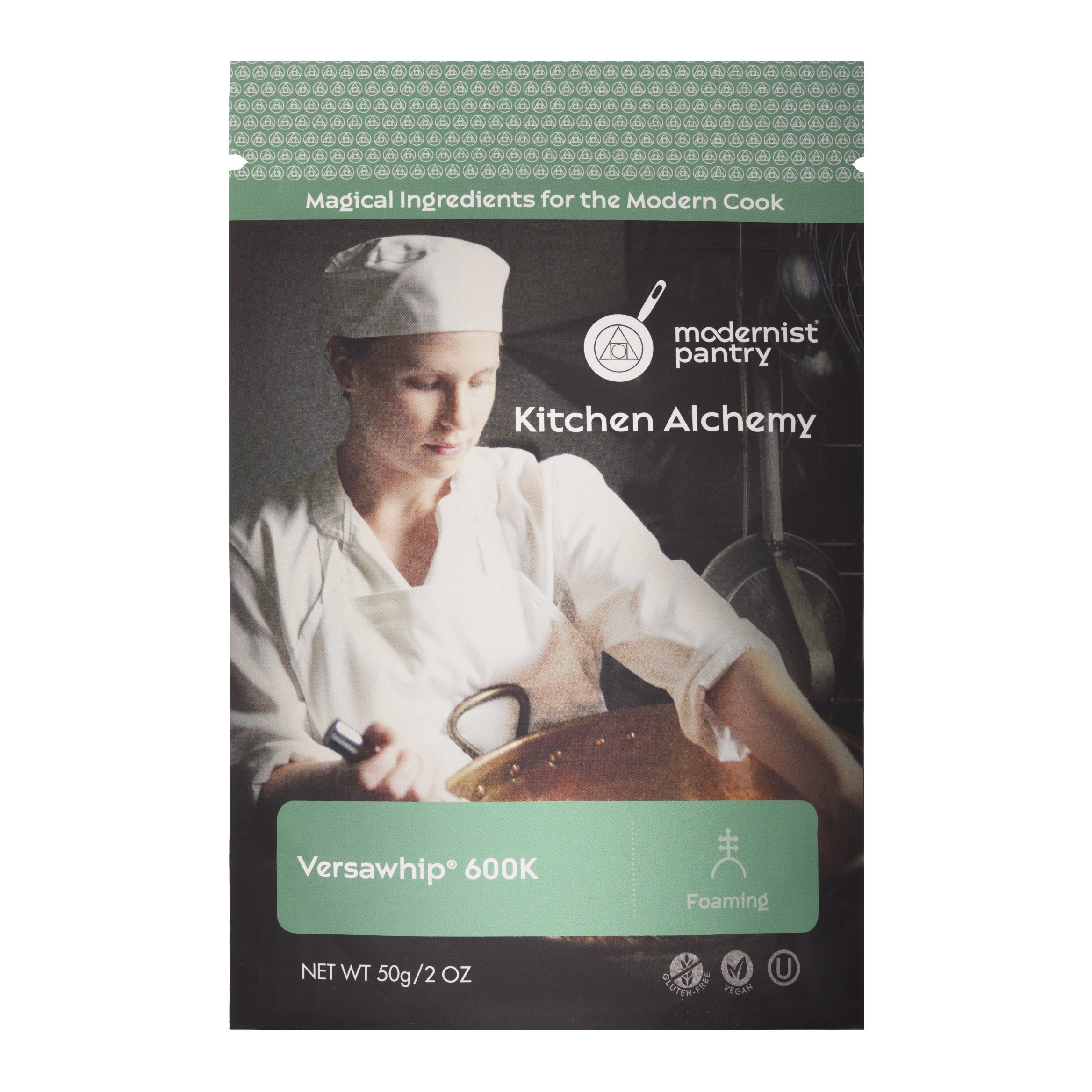 Food Grade VersaWhip 600K (Molecular Gastronomy) ☮ Vegan ✡ OU Kosher Certified - 50g/2oz by Modernist Pantry
