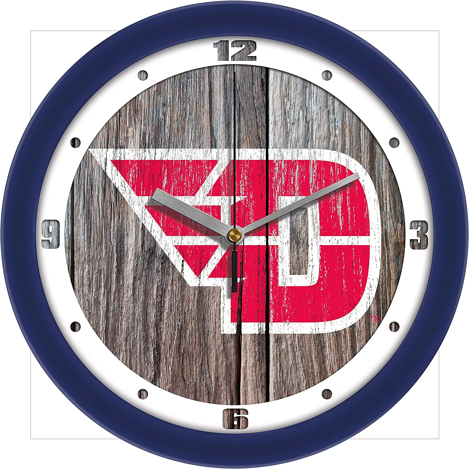 Weathered Wall Clock SunTime Clemson Tigers