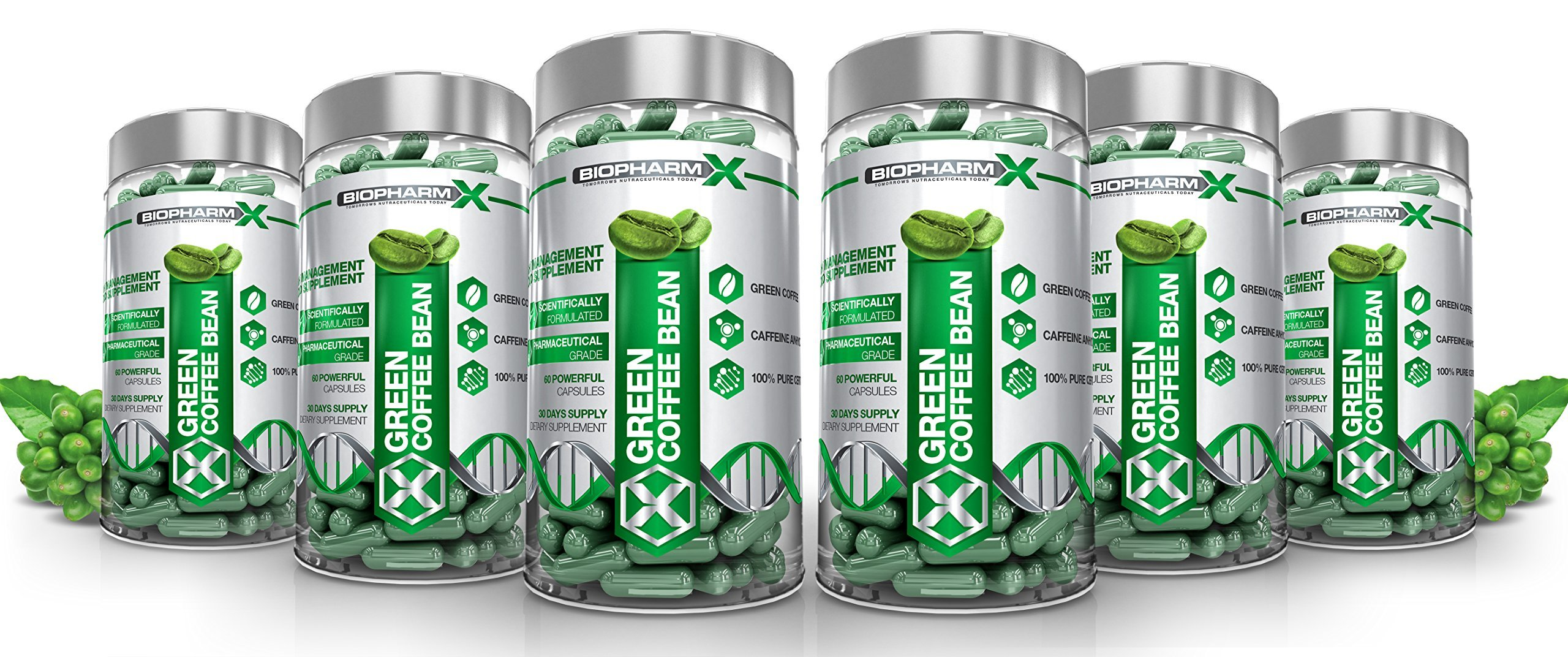 Biopharm-X x6 Green Coffee Bean Extract Diet Pills : Strongest Legal Antioxidant Fat Burner & Fat Blocker (360 Capsules | 6 Month Supply)
