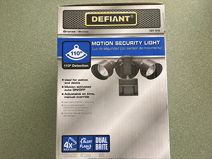 Amazon.com: Defiant 110 Degree Outdoor Bronze Motion Security Light: Electronics