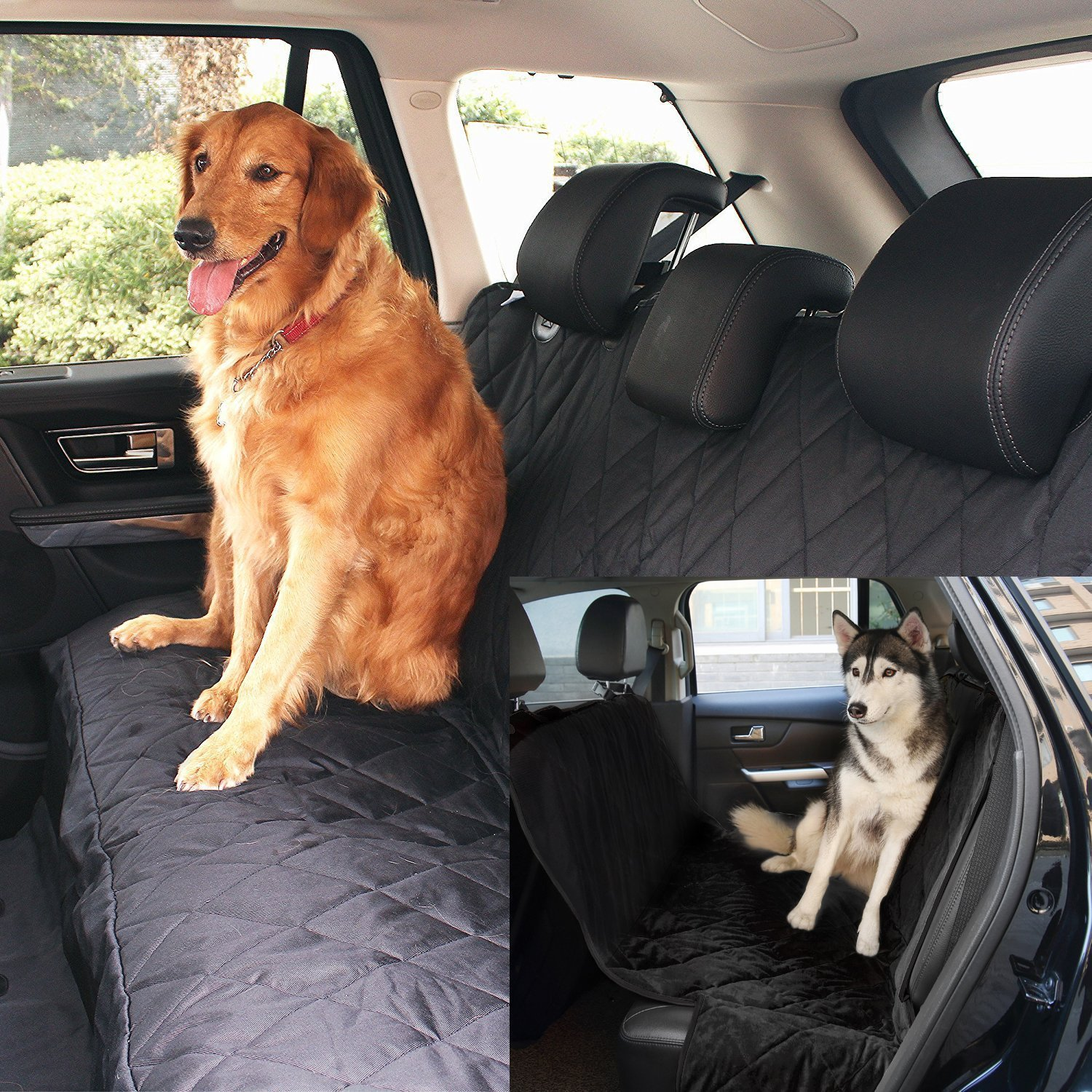 Fypo Dog Car Seat Covers, Waterproof Cool Rear Seat Hammock Booster Protector Trunk Liner Mat Blanket with Extra Large Size 65\