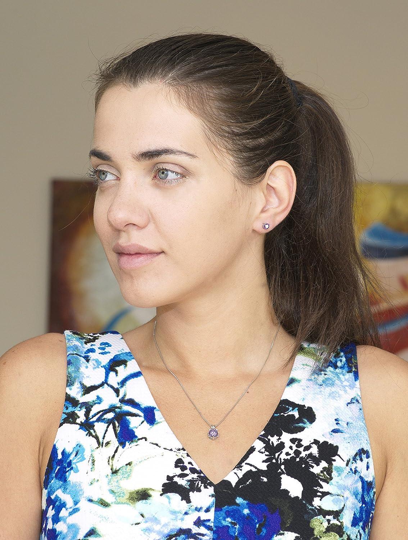 Accesorio de joyer/ía de Regalo Premium 18ct Chapado en Oro Majesto Juego de Joyas Conjunto Colgante de Collar y Pendientes Gato para Mujer Adolescente ni/ña peque/ña mam/á