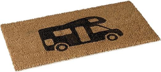 No Label 5388040 Felpudo 50 x 25 cm – 100% Fibra de Coco – Camper – Coir Brown 50 x 25 x 1 cm: Amazon.es: Hogar