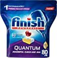 Finish Powerball Quantum Dishwasher Tablets, Lemon Sparkle, 80 Pack