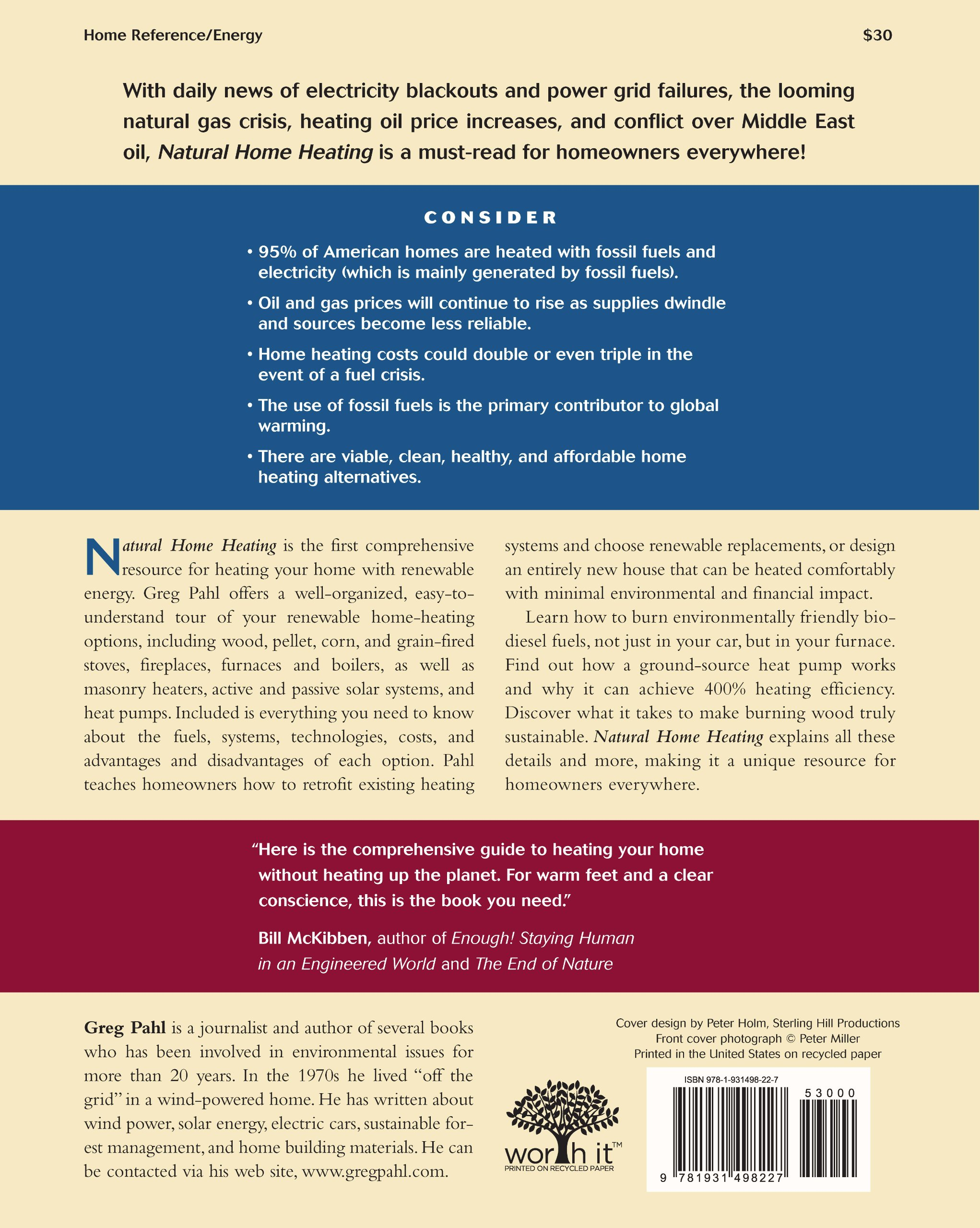 Natural Home Heating The plete Guide to Renewable Energy