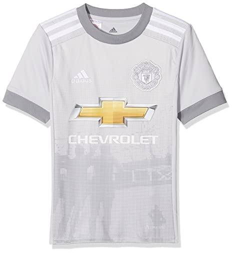 1ebbce0fbba adidas Manchester United FC Official 2017 18 Short Sleeve Third Jersey -  Youth - Grey