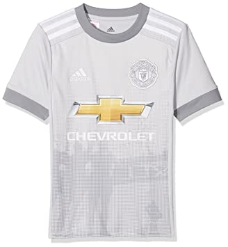 abdfbd436 adidas Kid's AZ7562-128 Manchester United Replica Third Jersey, LGH Solid  White/Grey