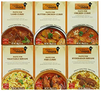 Genial Kitchens Of India Curry Paste Variety Pack, 3.5 Ounce (Pack Of 6)