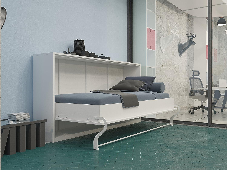 SMARTBett Armario de Cama 90 x 200 cm Horizontal Color Blanco ...