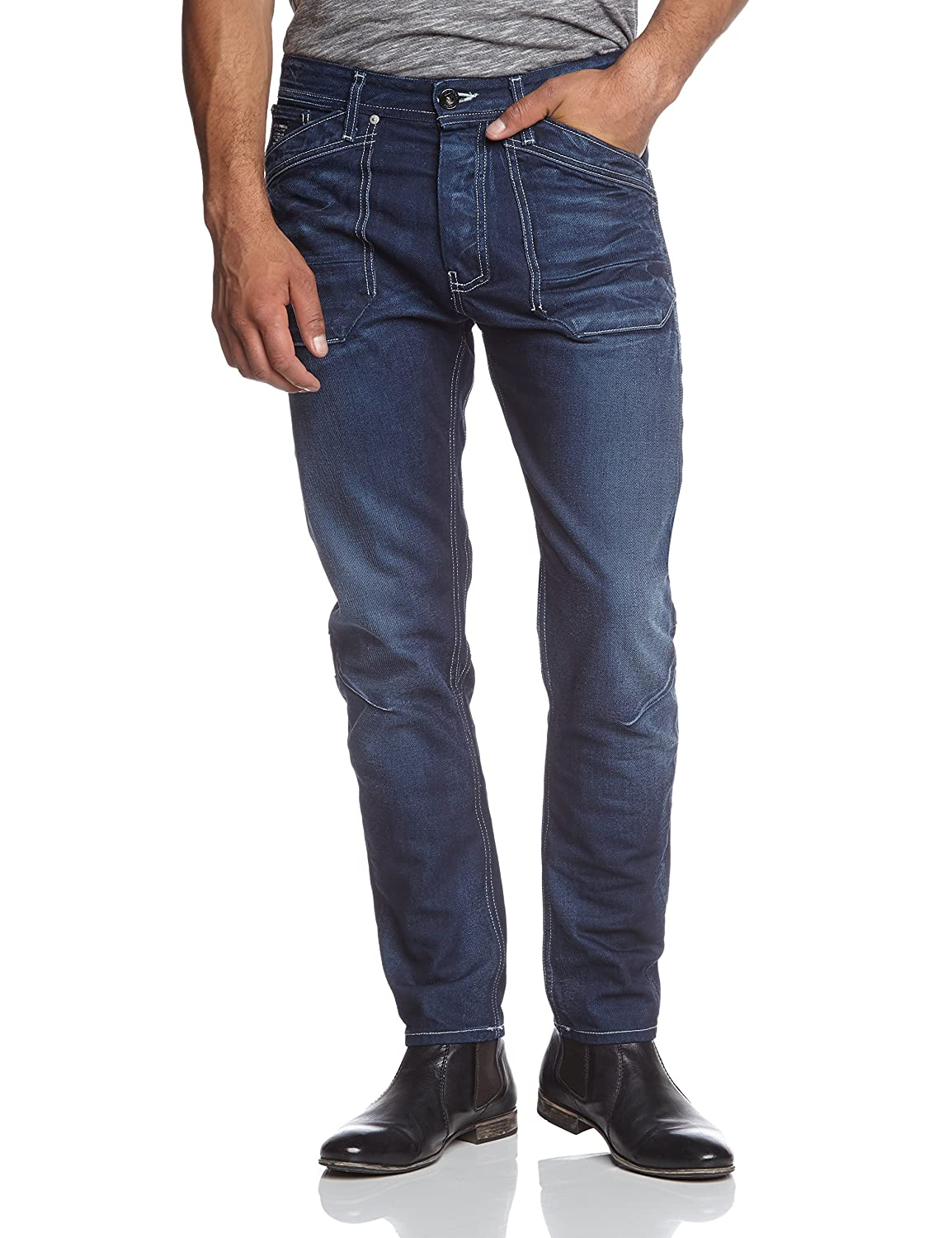 JACK & JONES Herren Relaxed Jeans Erik Ryan Bl 288 Lid Core Noos