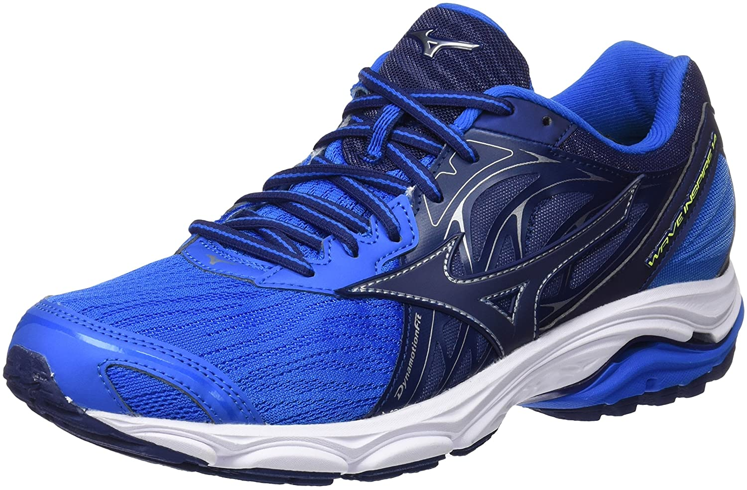 Mizuno Wave Inspire 14, Zapatillas de Running para Hombre 46 EU|Multicolor (Directoireblue/Bluedepths/Safetyyellow 17)
