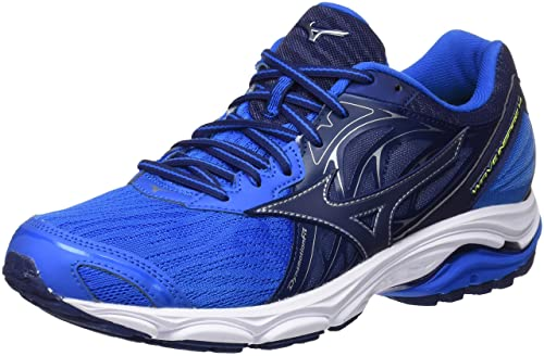 Mizuno Men's Wave Inspire 14 Running Shoes, Multicolor  (Directoireblue/Bluedepths/Safetyyellow 17