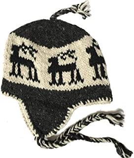 97d6b082e46c54 Wool Winter Chullo Beanie Fleece Lined Toque Cap Ear Flaps Sherpa Peruvian