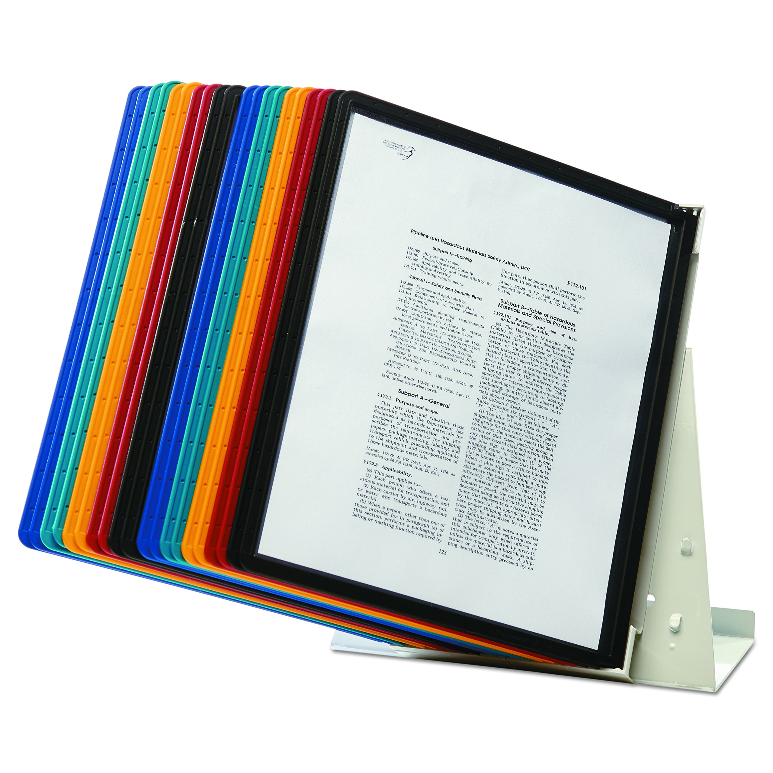 DURABLE Vario 20-Panel Desktop Reference System, Assorted Color Borders (536100) by Durable (Image #7)