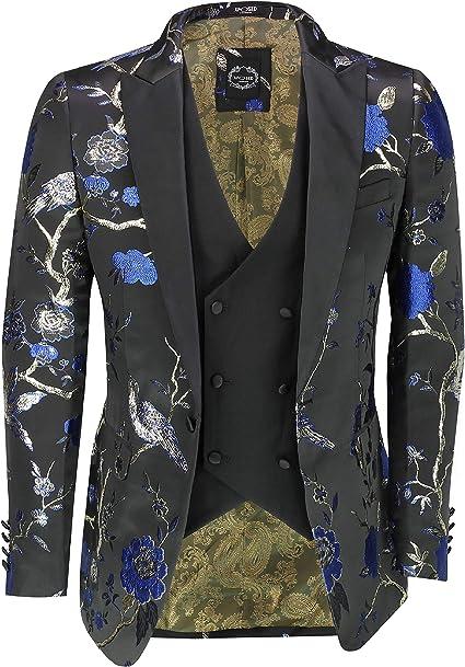 Xposed - Chaleco para Hombre, diseño de pájaros y Flores, Color ...